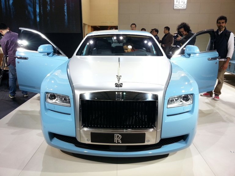 Rolls Royce Ghost Alpine Trial Centenary Collection at the 2013 Auto Shanghai
