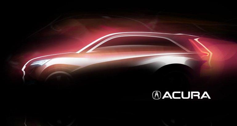 Acura concept Auto Shanghai 2013 teaser