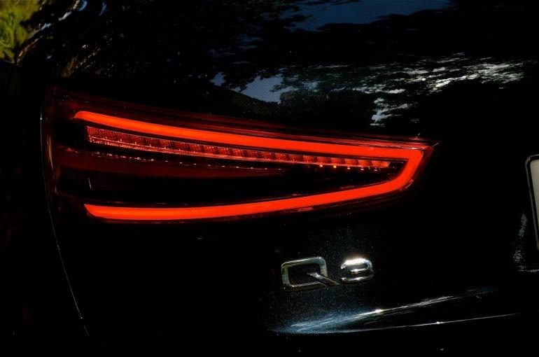 Rear tail lights of the Audi Q3 petrol