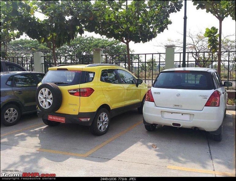 Ford EcoSport Size vs Swift