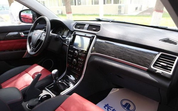 Haval H2 Spy interior black and brown red