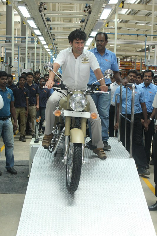 Royal Enfield new plant oragadam first bike