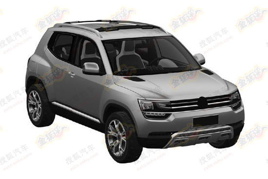 VW Taigun chinese patent leak front quarter