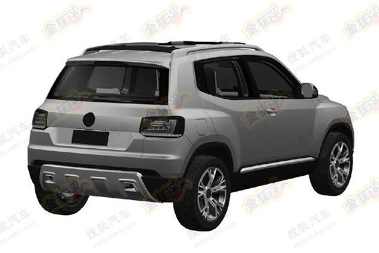 VW Taigun chinese patent leak rear quarter