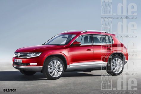 Next generation VW Tiguan Render