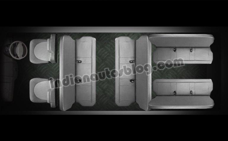 Ashok Leyland Dost passenger seating layout