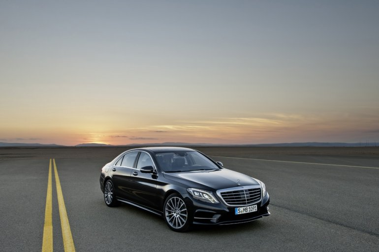 2014 Mercedes S Class during sunset