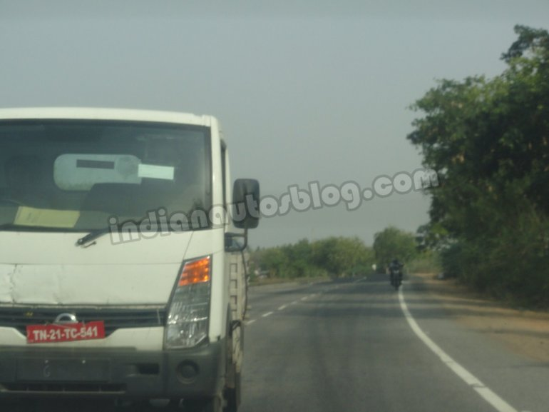 Ashok Leyland Partner spied Chennai  headlight