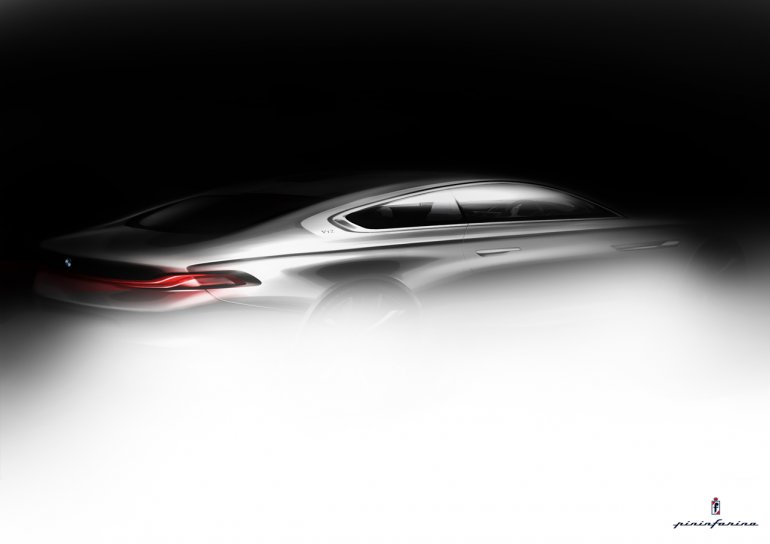 BMW Pininfarina Gran Lusso Coupe concept teaser