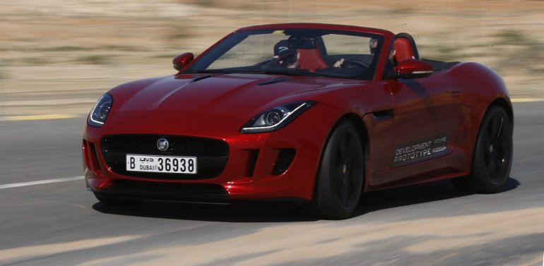Jaguar F-Type hot weather testing Dubai