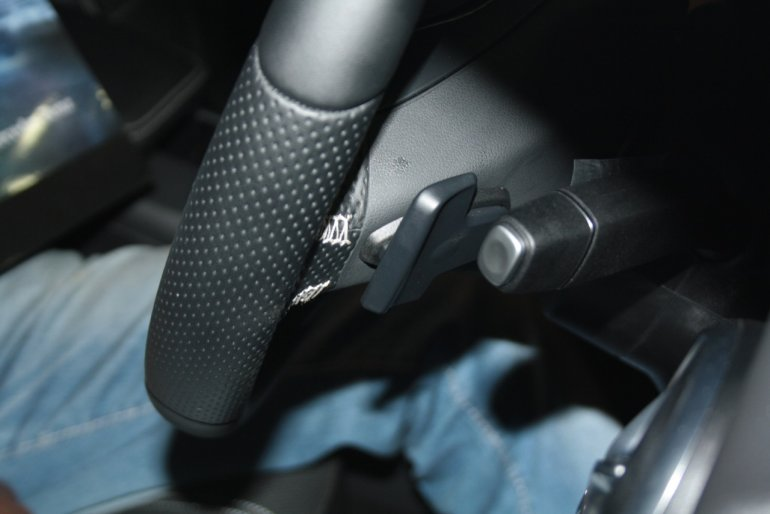 Mercedes A Class paddle shifters placed on the steering wheel