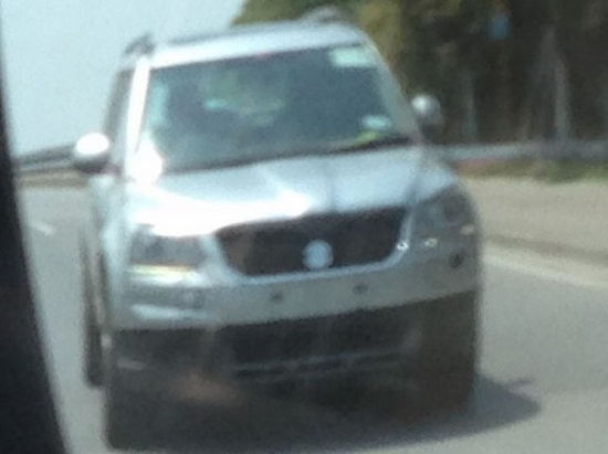 Skoda Yeti facelift China spyshot front