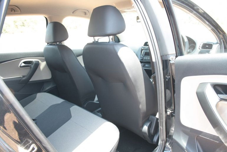 VW Polo GT TSI rear seats