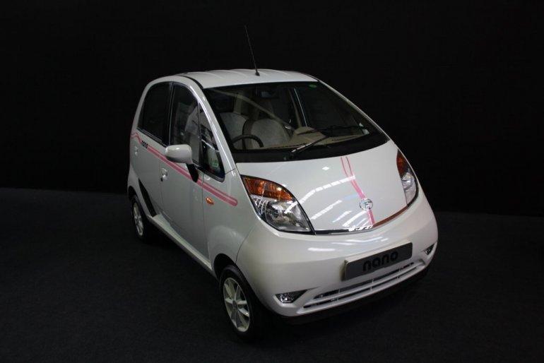 2013 Tata Nano Peach bodykit front