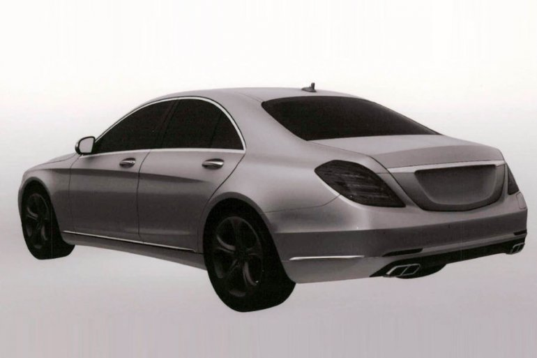 2014 Mercedes S Class S500 Hybrid Plus three quarter view rear