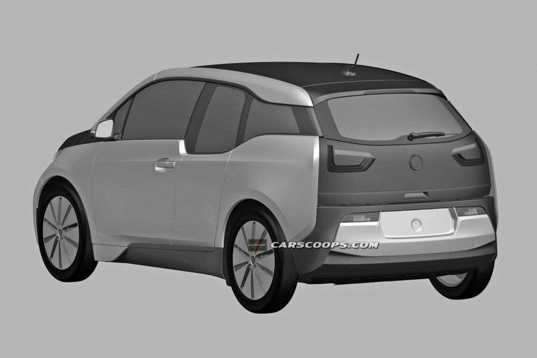 BMW i3 production patent leak rear three quarter