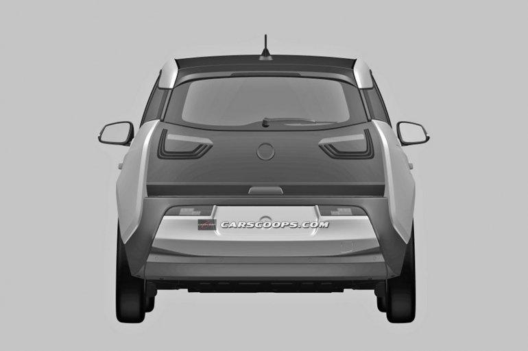 BMW i3 production patent leak rear