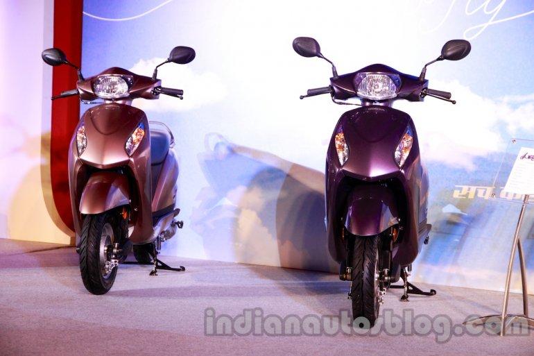 Purple and beige Honda Activa-I
