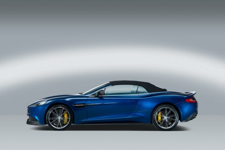 side of the Aston Martin Vanquish Volante