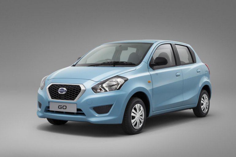Datsun Go front three quarters official image