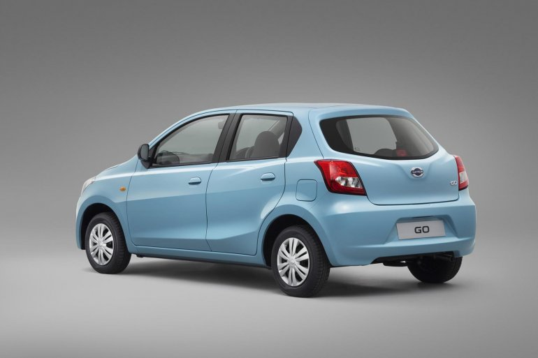 Datsun Go rear three quarters official image