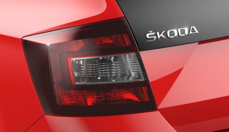 New Skoda Rapid variant taillamp teased
