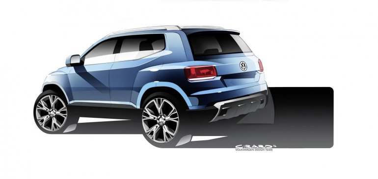 Volkswagen Taigun design sketch