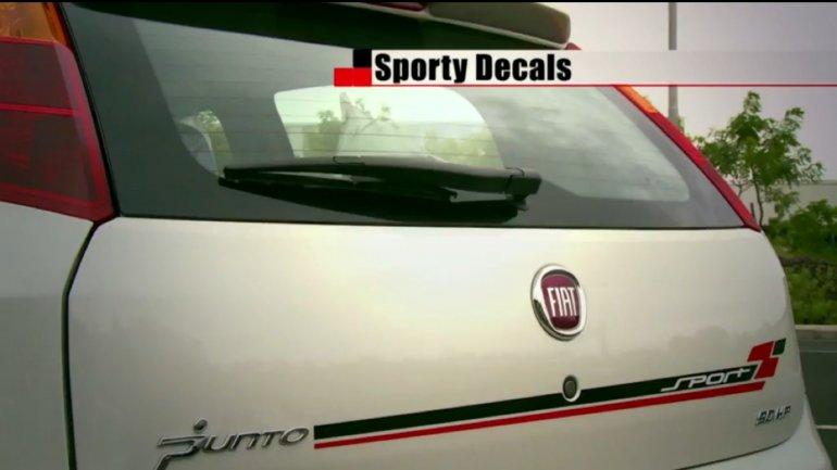 2013 Fiat Punto Sport bootlid