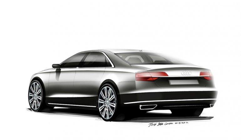 2014 Audi A8 Facelift rear