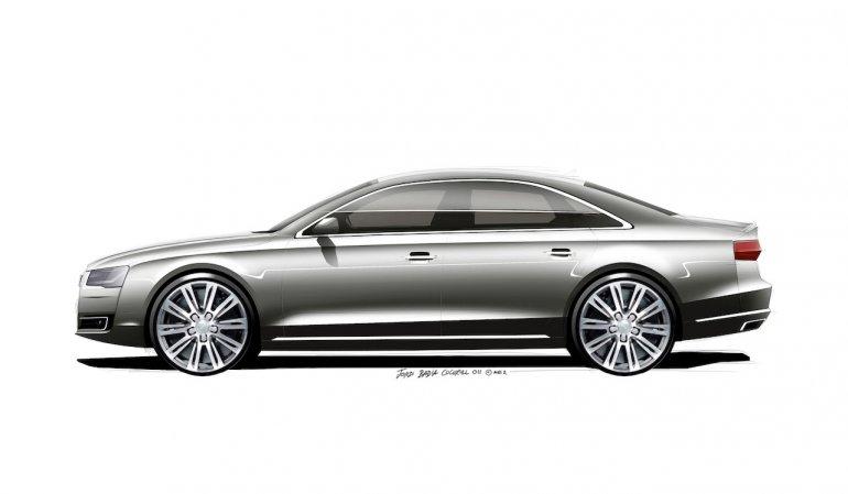 2014 Audi A8 Facelift side
