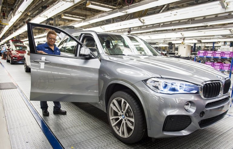 2014 BMW X5 production start in Spartanburg USA