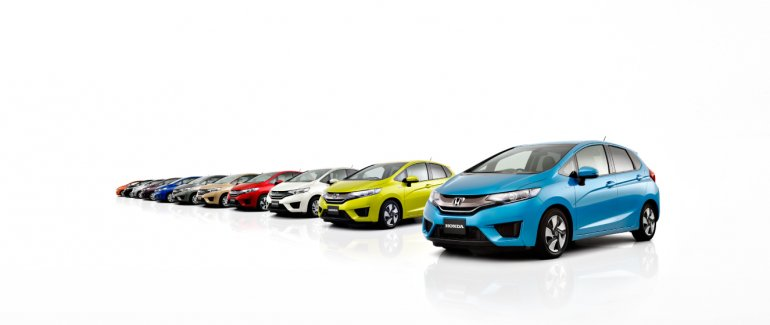 2014 Honda Jazz Fit colors