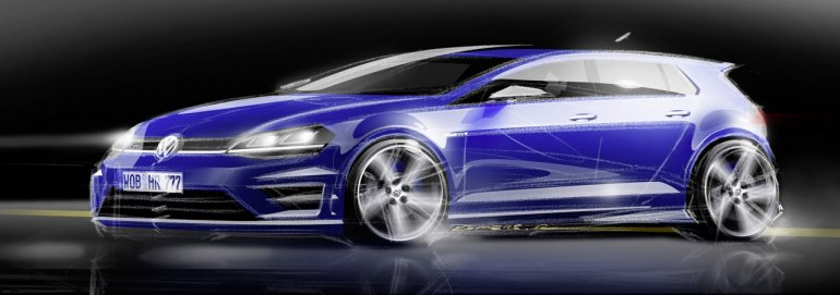2014 VW Golf R sketch