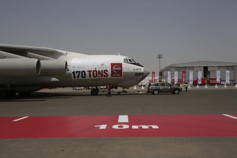 Nissan Patrol Guinness World Records for Pulling plane