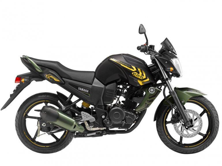Yamaha FZ-S special edition Battle Green Side