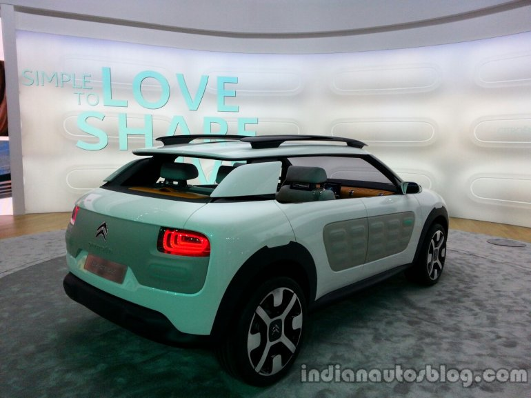 Rear three quarter of the Citroen Cactus Concept