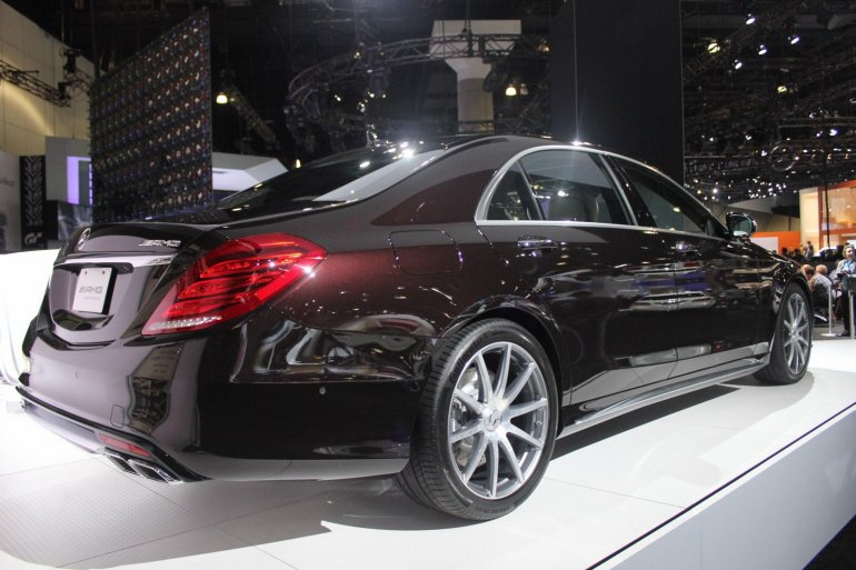 2014 Mercedes S65 AMG at LA Auto Show 2013 rear three quarters