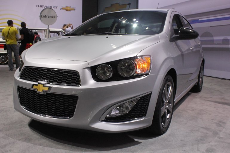 Chevrolet Sonic RS front three quarters