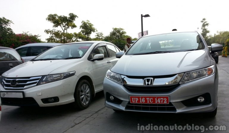 2014 Honda City drive vs Old City front