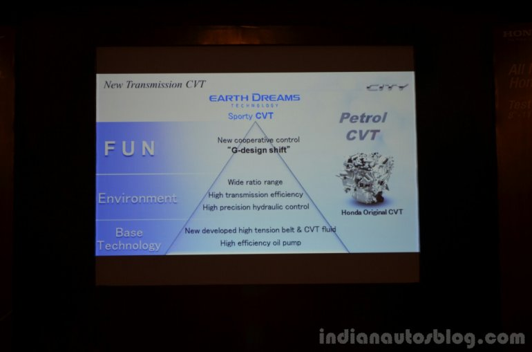 2014 Honda City tech specs CVT