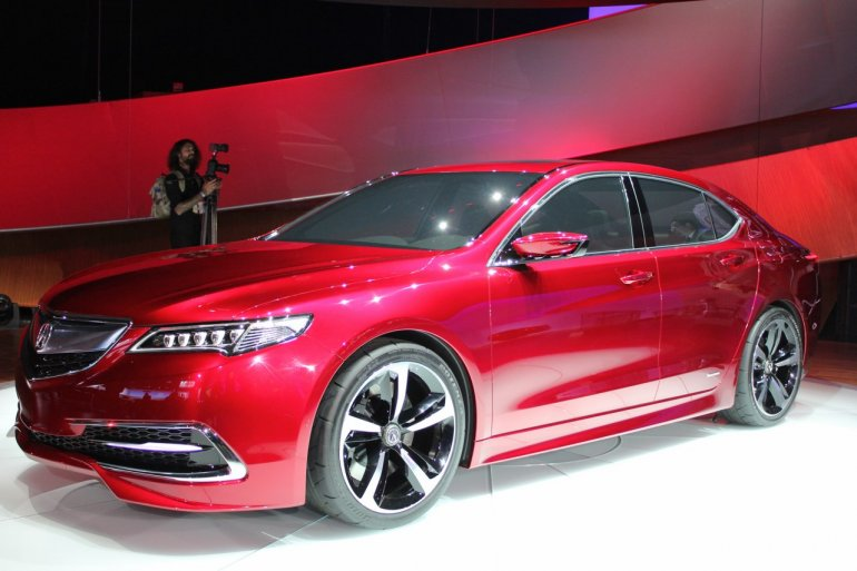 Acura TLX side at NAIAS 2014