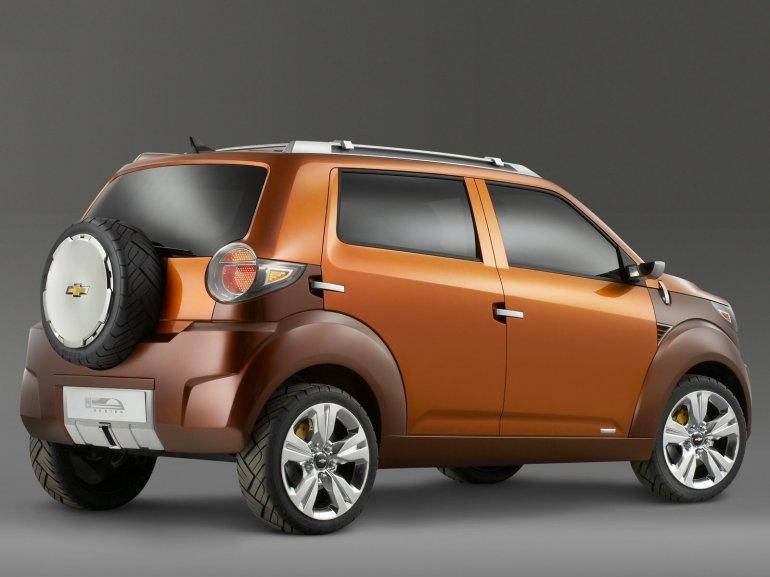 Chevrolet Trax Concept rear three quarters studio image