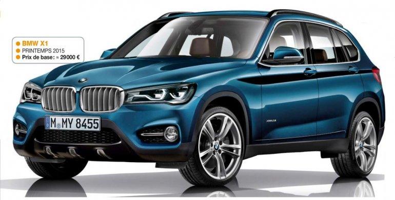 2016 BMW X1 rendering Automobile Magazine