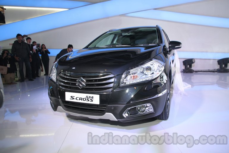 Auto Expo 2014 Maruti S Cross front p[rofile