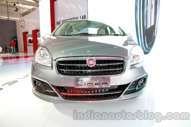 Fiat Linea facelift at Auto Expo 2014