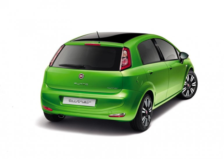 Fiat Punto facelift rear press image 2012