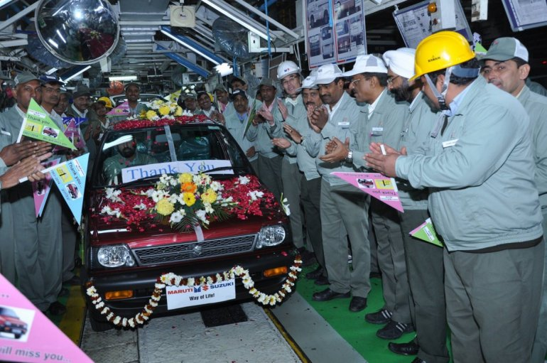 Final Maruti 800 production rollout