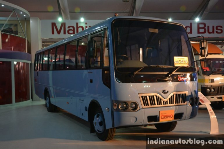 Mahindra Tourister Cosmo 40 seater front three quarter live