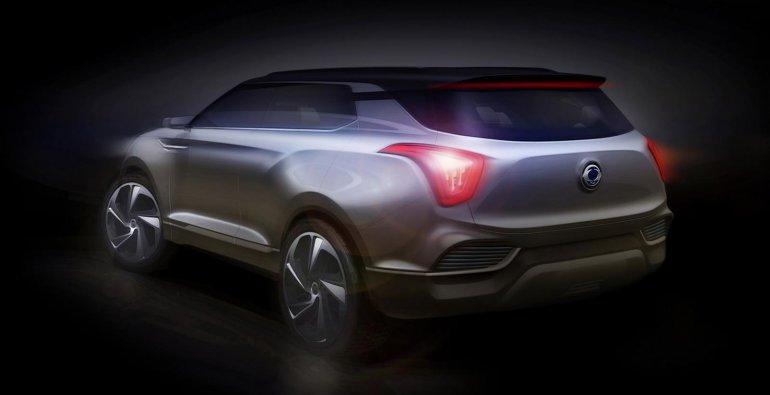 Ssangyong XLV Concept sketch rear