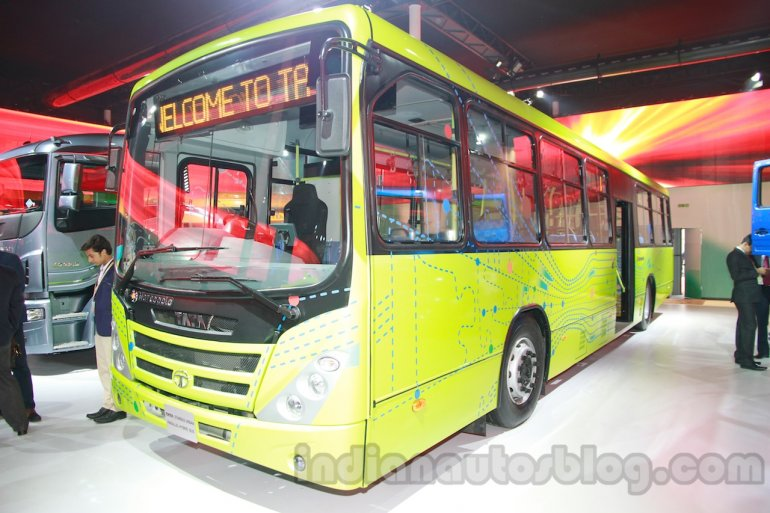 Tata Starbus Urban hybrid front three quarters